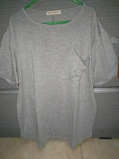 Billy brown grey loose shirt all sz