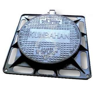 Ductile iron manhole cover & frame with hinges