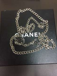 Chanel cc logo chain belt