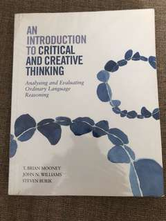 An Introduction to Critical and Creative Thinking