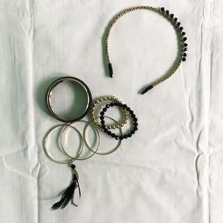 Bangle and Headband set