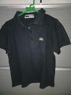 Fila black polo shirt m