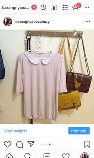 [NO NEGO]peach blouse