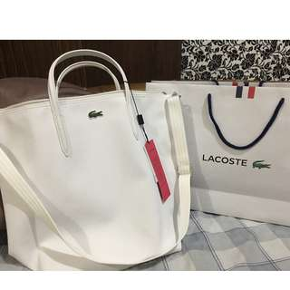 Authentic Lacoste White Shopping Bag