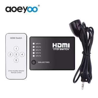 HDMI SWITCH 5 To 1 轉插器 (全新)