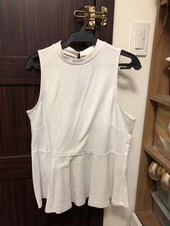 Forever 21 white top plus size 1X