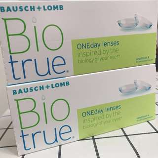 525 and 650 Bausch Lomb Biotrue one day lenses 博士倫 即棄隱形眼鏡 度數525及650