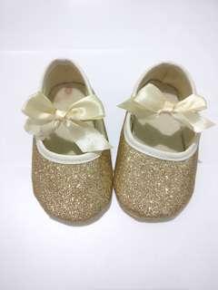 Gold Glittery Shoe