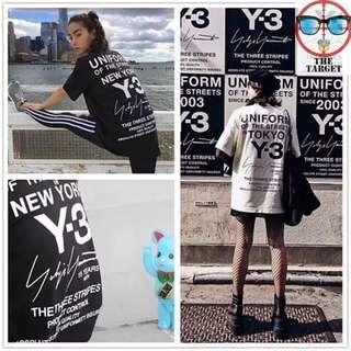 Y3東京定製款 短袖 黑白兩色 S M L XL XXL …麻20180601