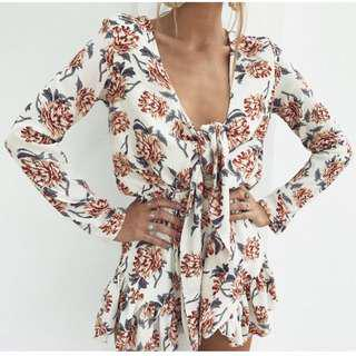 RENT wildflower playsuit size S/M