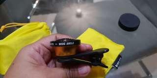 Black eye clip on lens