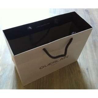 (半價) GUERLAIN White Paper Shopping Gift Bag 紙袋 禮物袋 (Half Price)