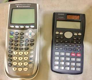 TI-84 Plus Silver Edition Texas Instruments & Casio fx-85MS