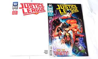 JUSTICE LEAGUE 1 BLANK & 2 DC COMICS