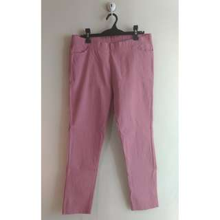 Plus Size Candy Pants - Old Rose