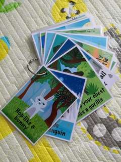 DIY Animal Action Cards (Set of 18)