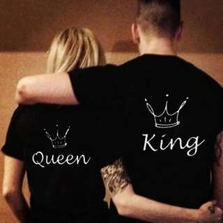 SWEET COUPLE KING/QUEEN T-SHIRT (S-3XL) (ONE PIECE PRICE)