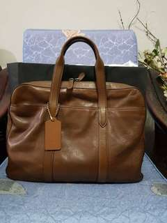 Coach Brown Leather Saddle Bag Genuine Product
