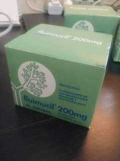 Fluimucil 橙樹成人化痰素 200mg 一盒60包 可散買 瑞士製造