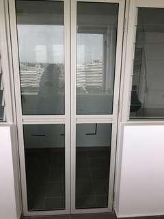 Folding door and window for hdb bto service yard
