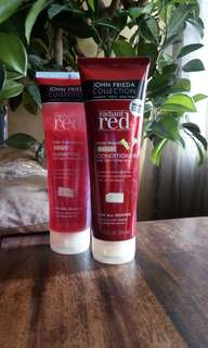 💌JOHN FRIEDA COLLECTION RADIANT RED SHAMPOO & CONDITIONER DUO SET💌