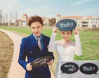 Marry Me Speech Bubble Photoshoot Props