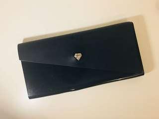 Melissa Black plastic clutch (30w x 25h cm)