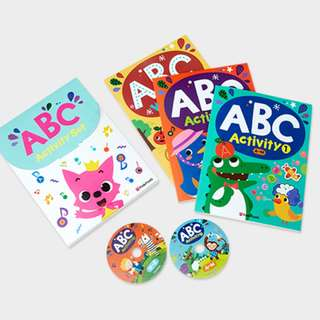 Pink Fong ABC alphabet activity set