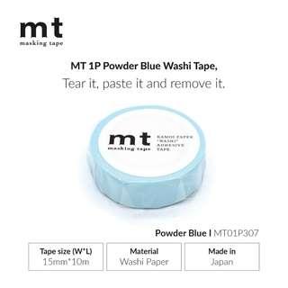 MT Solids MT01P307 Washi Tape - POWDER BLUE - 15mm x 10m