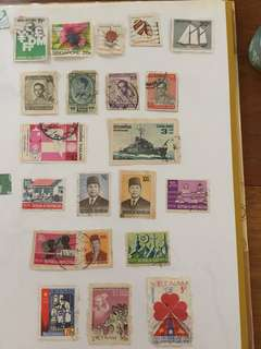 Stamp collection- 24 countries