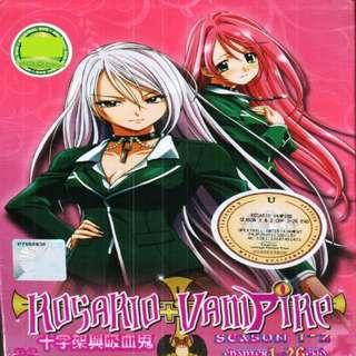 Rosario Vampire Sea 1+2 Chp 1-26 End Anime DVD