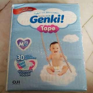 New Unopened Diaper Genki M75
