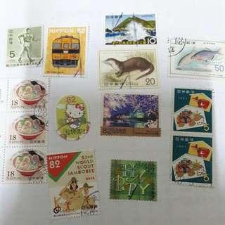 日本信銷郵票14張 Japan Stamps