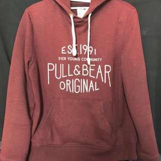 pull&bear maroon hoodie