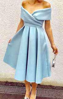 一字膊宴會裙 sexy off shoulder elegant dress