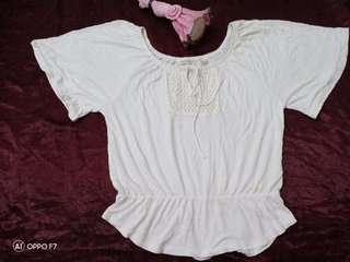 White boho top