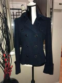 Diane Von Furstenberg Coat (Navy Blue)