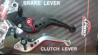 2 Yamaha Spark/ x1R/ Sniper clutch levers and 1 super 4 cb400/ cbr400 brake lever
