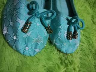 green dollshoes