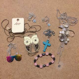 All necklaces and bracelets
