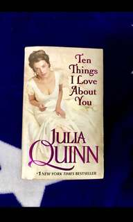 Rp$17-10 things I ❤️ about you book by Julia Quinn