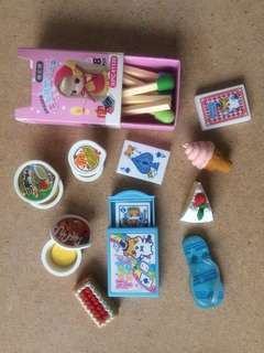 Variety of erasers