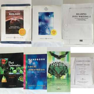 Chemistry, Biology, English and other Reference Books
