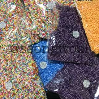 small colored foam beads