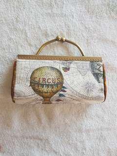 Vintage circus clutch