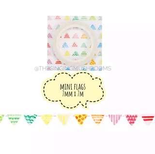 [T]Mini flags washi tape