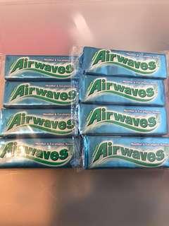 Air waves 爽浪無糖香口珠10粒裝 8條