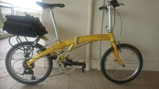 Foldable Bicycle MUP 8 but upgrade to 9 speed