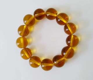 黄水晶串手