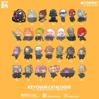 See you this Weekend! Cosfest Keychian Catalogue.